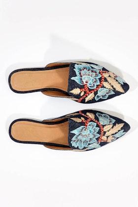 Ruby Yaya Chanda Embroidered Mule Flat