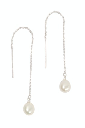 Lush Designs Drop Pull Pearl Earrings