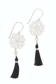 Boho Pearl Tassel Earrings