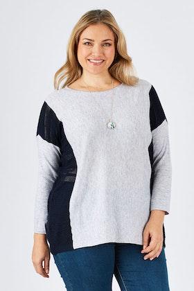 Clarity By Threadz Contrast Insert Knit
