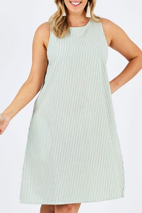 bird keepers The Cotton Stripe Shift Dress