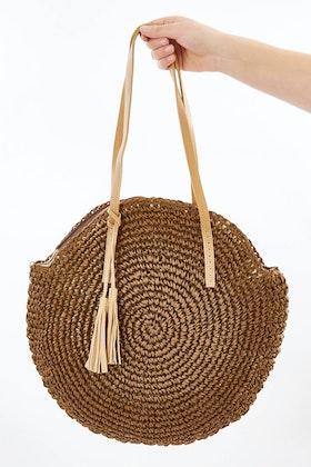 Rancho Raffia Shoulder Bag