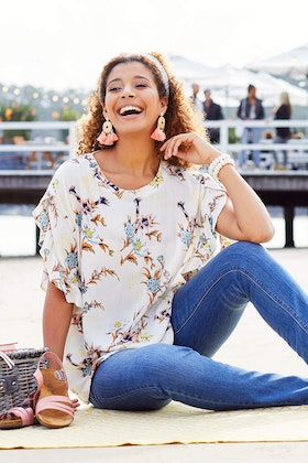 handpicked by birds Soft Sleeve Top