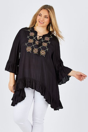 Clarity By Threadz Embroidered Tunic