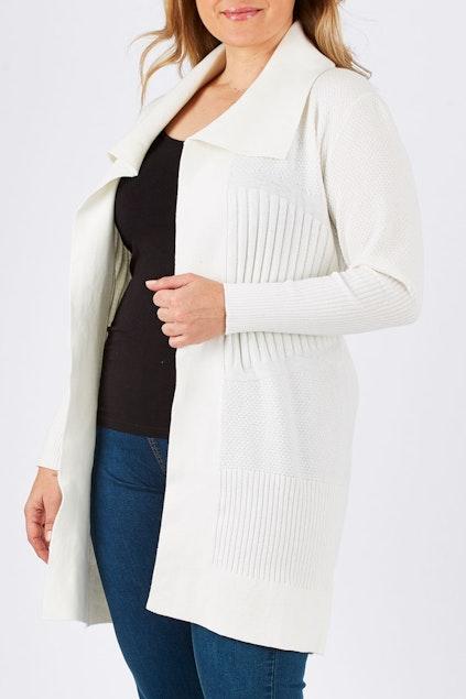 40114cd835b3 Clarity By Threadz Fashion for size 16+ Waterfall Cardigan - Womens ...