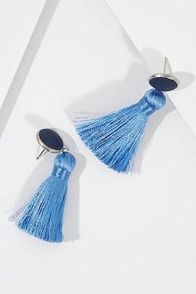 Greenwood Designs Bezel Set Tassel Earrings