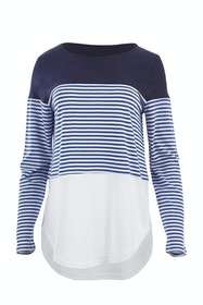 The Ls Contrast Stripe Tee