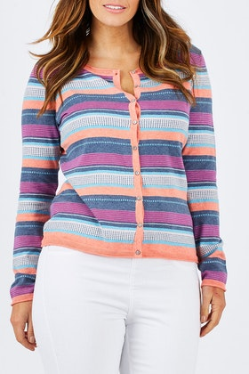 Lily & Me Knitted Stripe Cardi