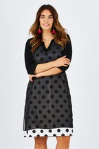 Cordelia St Overlay Spot Dress