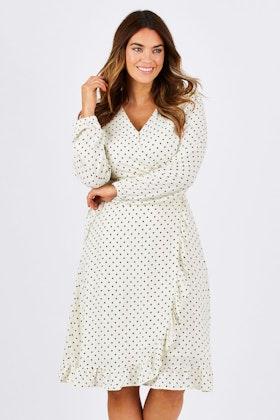 Wite Loire Spot Dress