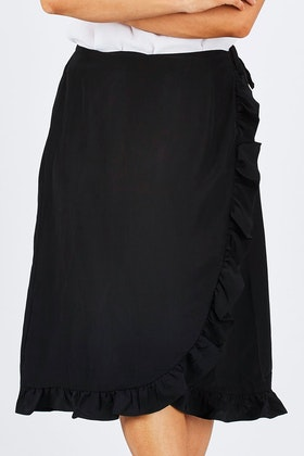 Wite Anna Wrap Skirt