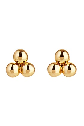 Najo Aura Gold Stud Earrings