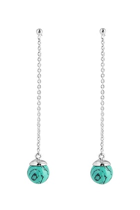 Najo Dewdrop Turquoise Sterling Silver Earrings