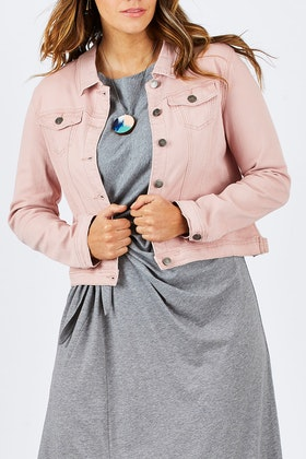 Threadz Pink Denim Jacket