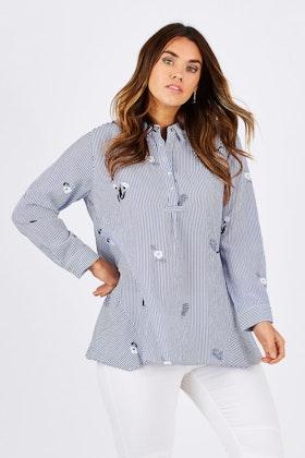 Threadz Feather Emb Overshirt