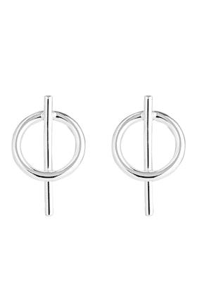 Najo Bounce Sterling Silver Stud Earrings