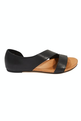Django & Juliette Jerris Leather Flat Sandal