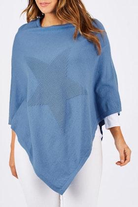 Threadz Angled Star Poncho