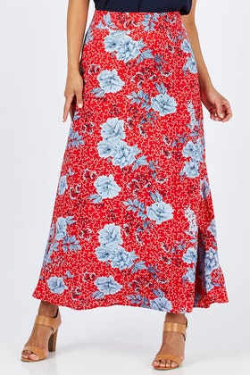 handpicked by birds Printed Maxi Skirt