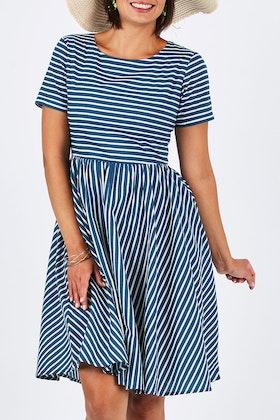 handpicked by birds Contrast Stripe Dress