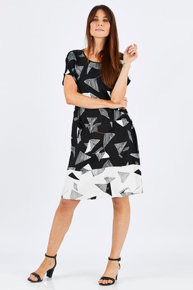 Clarity By Threadz Contrast Dress