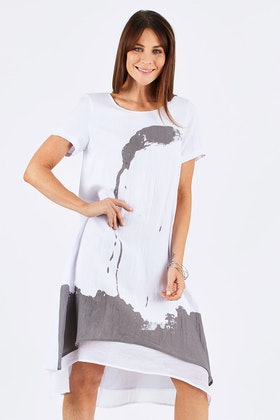 Clarity By Threadz Layered Dress