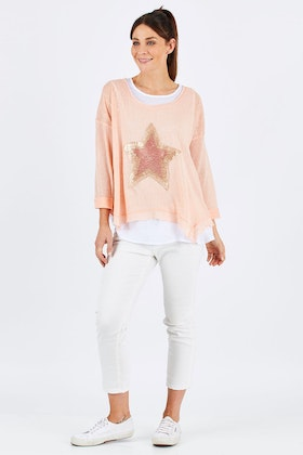 Threadz Sequin Star Sweater