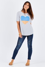 Threadz Stripe Heart Tee