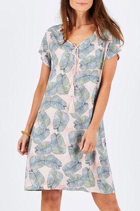 Threadz Leaf Print Dress