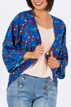 that bird label Jade Kimono Kaleidoscope
