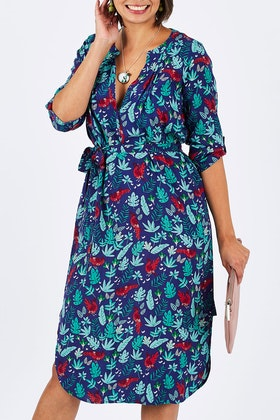 that bird label Edwina Midi Dress Jungle Fever