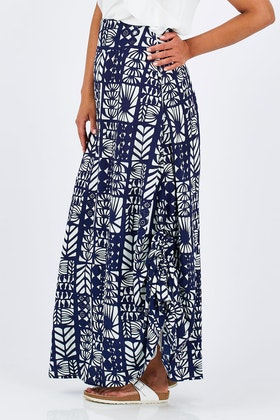 that bird label Rosie Maxi Skirt Havana