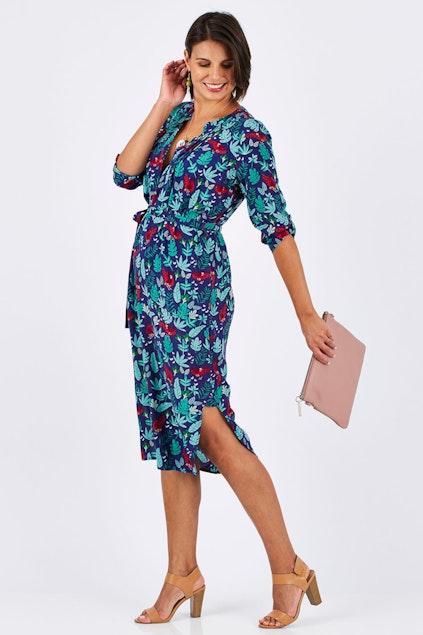 a9d6594f5a133 that bird label Edwina Midi Dress Jungle Fever - Womens Knee ...