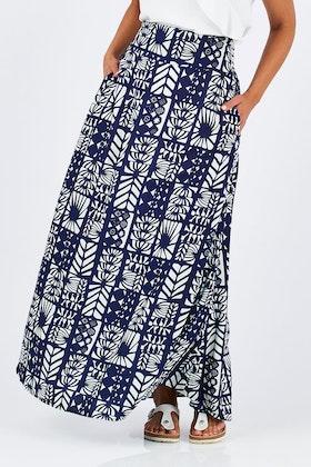 that bird label Rosie Maxi Skirt Havana