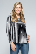 Clarity By Threadz Stripe Spot Tee