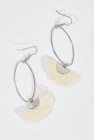 Silver Caprioska Tassel Earrings