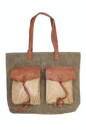 Mona B Flap And Strings Upcycled Bag