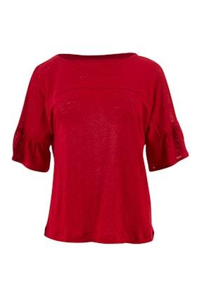 JAG Liv Flutter Slv Linen T Shirt