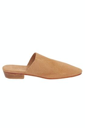 Just Because Morjim Suede Leather Flat Slide