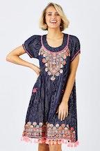 Naudic Sao Paulo Dress Taj Aari Embroidery
