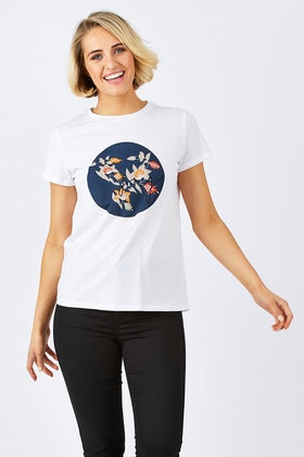 JAG Lia Floral Graphic T Shirt
