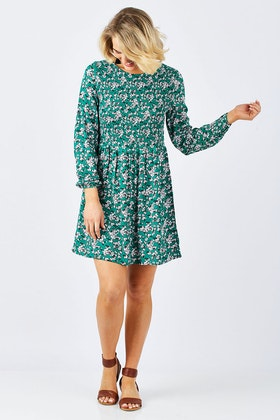 Sass Liberty Shirred Dress