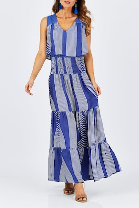 bird keepers The Curve Striped Maxi Dress