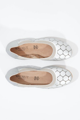 Walnut Ava Leather Perf Ballet Flat