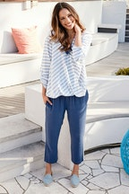 bird keepers The Stripe Crossover Blouse