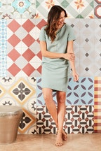 bird keepers The Linen Blend Shift Dress