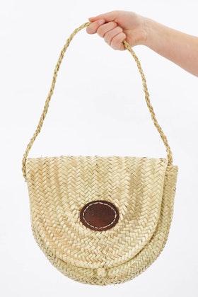2 Duck Trading Palm Straw Handbag