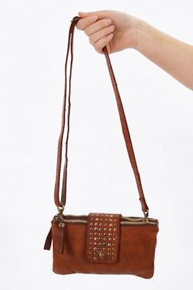Kompanero Fern Leather Clutch Shoulder Bag