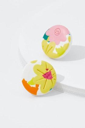 Seeking Hazel Floral Stud Earrings