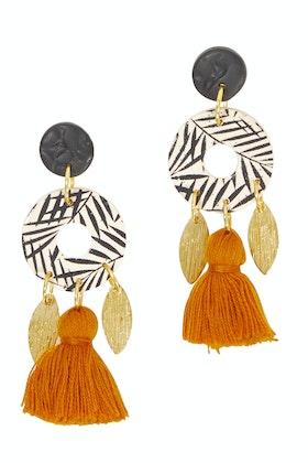 Seeking Hazel Multi Dangle Tassel Earrings